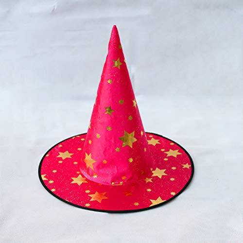 ay Kostüm Girl Boy Wizard Hat,Red ()