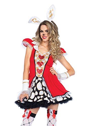 Leg Avenue 85447 - Tick   Tock White Rabbit Kostüm, Größe S/M  (EUR 36-38) (Wunderland Kostüm Rabbit White)