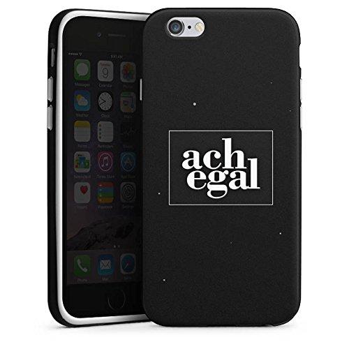 Apple iPhone X Silikon Hülle Case Schutzhülle Sprüche Ach egal Schwarz Silikon Case schwarz / weiß