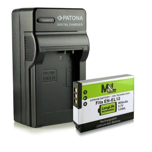 Cargador + Batería EN EL12 para Nikon CoolPix AW100 P300 P330 P340 S31 S70 S610 S610c S620 S630 S640 S710 S800c S1000pj S1100pj S1200pj S6100 S6150 S6200 S6300 S6400 S8000