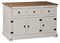 Mercers Furniture Corona Painted 3-door 3-drawer Sideboard - Creampine