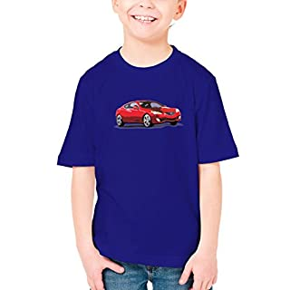 Billion Group   Korean Red   Fast And Furious Motor Cars   Boys Classic Crew Neck T-Shirt Dark Blue Large
