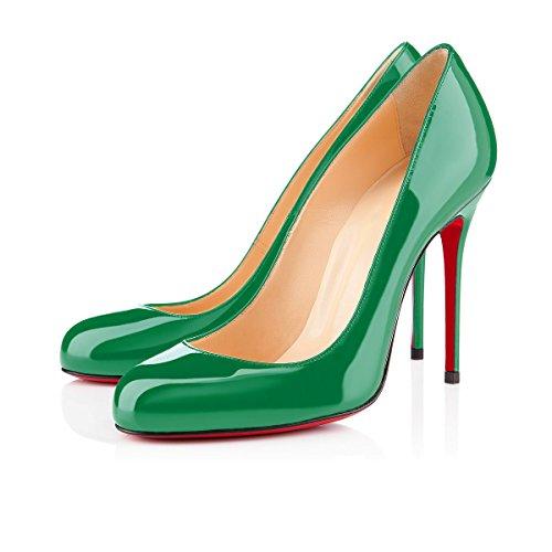 ... Chaussures Femme Ubeauty - Chaussures À Talons - Chaussures À Talons  Classiques - Vert Round Toe ... 40fd5286a1fd