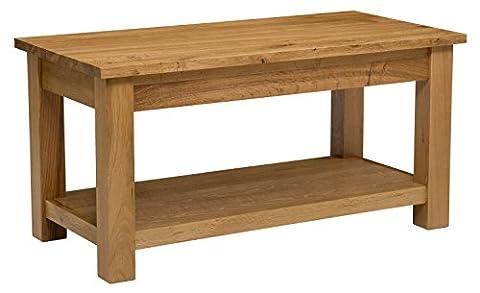 Waverly Oak Large Coffee Table with Shelf in Light Oak