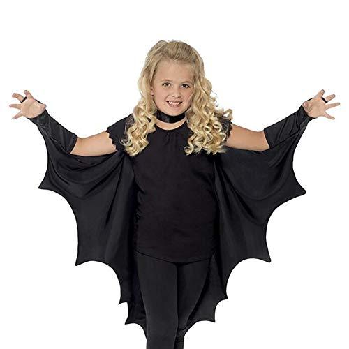 (RivenDell Halloween Cosplay Bat Kostüm, Kinder Bühne Kostüm Kleidung, Schule Drama Performance Kleidung Outfits)