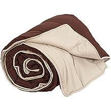 Habita Home - Relleno nórdico con tejido poliéster microfibra, 350g/m2,  240x220, color chocolate/beige