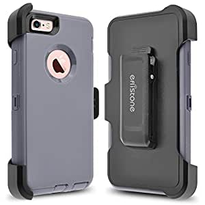 iPhone 6s Plus Case, iPhone 6 Plus Case. Eflistone(TM) Heavy Duty Dual Bumper cover Shockproof Built-in Screen Protector Rugged Hybrid Hard Shell for iphone 6 (6S) plus (Gray)