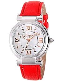 Amazon.es  relojes con numeros romanos - Rojo  Relojes 9aceb82e14ca