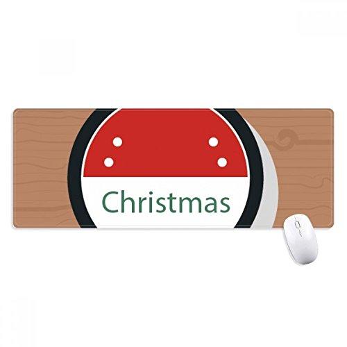 beatChong Weihnachten Abzeichen Weihnachten Cartoon-Symbol Griffige Mousepad Große Erweiterte Spiel Büro titched Kanten Computer-Mat Geschenk