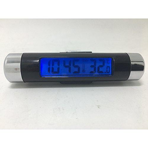 Digital Led Elektronische (lymty Digital LED Auto Uhr Thermometer Elektronische Zeit Klimaanlage Vent Hintergrundbeleuchtung Temperatur Spannung Meter)