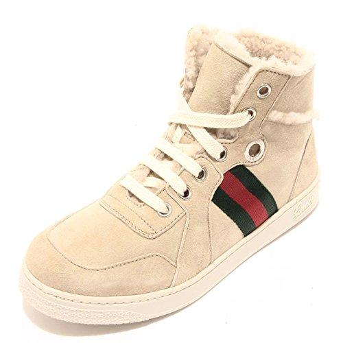92552 sneaker alta GUCCI scarpa bimbo bimba shoes kids unisex montone [30]