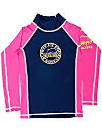 Surfit Girls Quickdry - Camiseta de manga larga para niña azul azul marino y rosa Talla:10-11 años