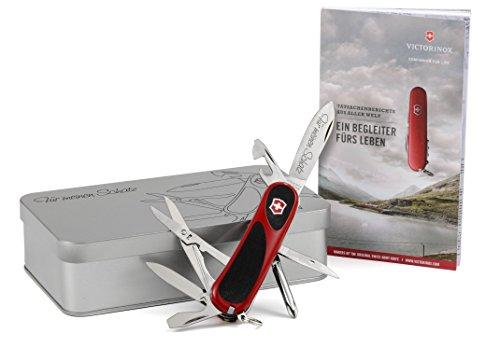 Mit Taschenmesser Box (Victorinox EvoGrip 16 Taschenmesser Geschenk-Box mit Wunschgravur)