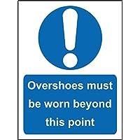 Señal obligatoria cubrezapatillas de ciclismo (debe llevarse más allá de este punto seguridad señal –