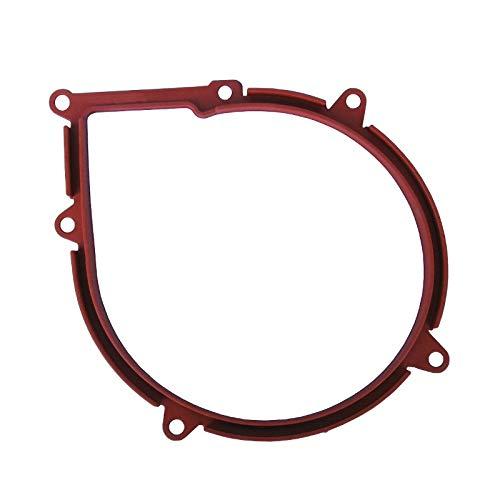 Easyricambi Guarnizione Anteriore aspiratore estrattore fumi di stufe a Pellet a 6 Fori in Gomma siliconica di Colore Rosso