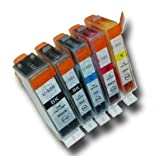 5 Cartuchos de tinta para Canon