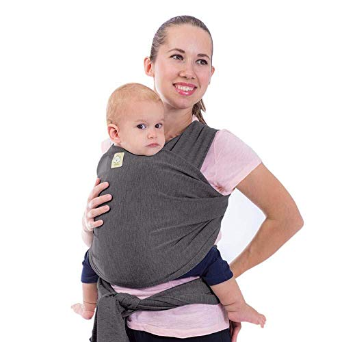 Tragetuch Alles-in-einem - Dehnbare Baby-Tragetücher - Babytrage - Kleinkindtrage - Baby-Tragetuch - Handfrei Babytragetücher - Babyparty-Geschenk - Einheitsgröße (Mystisch Grau)
