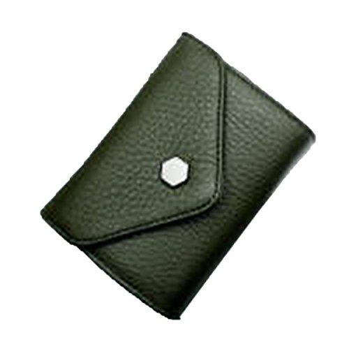 WU Zhi Lady In Pelle La Posizione Multi-card Borsa Portafoglio Pacchetto Di Carta Green