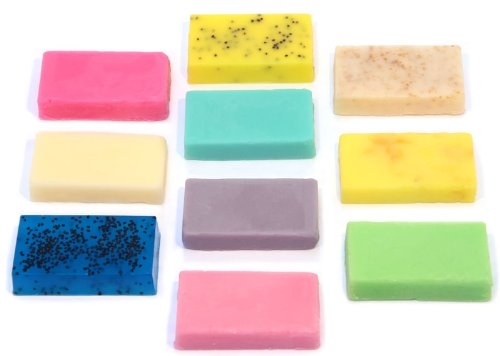 Bee Beautiful 10 Handmade 12g Guest Soap Bars Mixed Scents