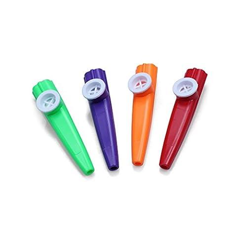 ETGtek(TM) Kazoo Assorted Instrument à vent Kazoo pour les enfants (Pack Of 4)