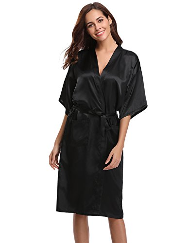 Aibrou Kimono Mujer Batas Largas Lenceria Aspecto