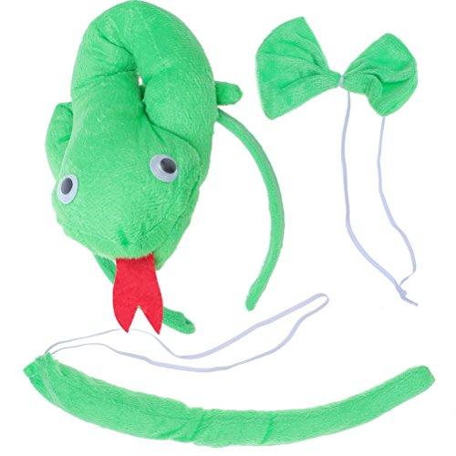 r Tier Kostüm Set Ohren Schwanz und Fliege Schlange Tierkostüm ()