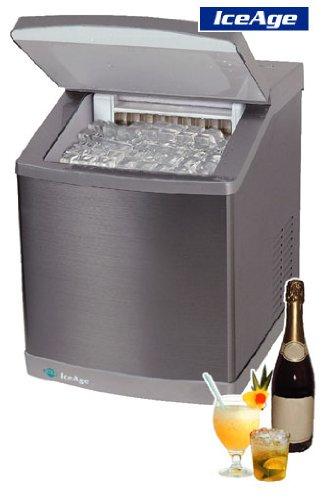 4046 ICEAGE Eismaschine • Eiswürfelbereiter • Eiswürfelmaschine • klare rechteckige Eiswürfel • 3 Würfelgrößen