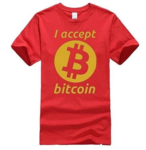 b567c57a 2018 Summer Style I Accept Bitcoin T-Shirt-Funny Money Shirt Print Tops Tee