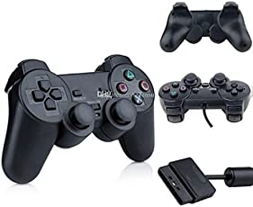 Pacificdeals: Genuine wired Controller for Sony PlayStation 2 (Black) - Without Analog Button