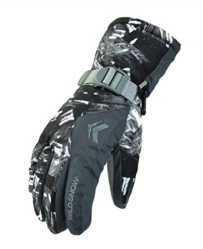 Preisvergleich Produktbild Jaimelavie Herren Damen Skifahren Handschuhe Skihandschuhe Snowboard Motorrad Handschuhe,  Schnee Handschuhe Outdoor Sport Handschuhe Winter Warme Handschuhe,  4 ,  L / Mittelfingerlaenge 7.8cm