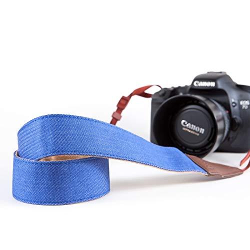 ARCHE Verstellbare und komfortable Hals/Schulter-Kamera-Gurt für alle DSLR Kamera kompatibel Arbeiten mit Nikon/Canon / Sony/Olympus und mehr DSLR, Mirrorless und Sofortbild-Kamera Denim Farbe