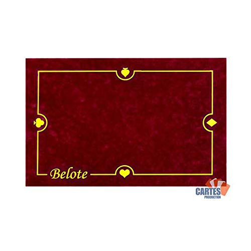 Tapis Belote CARTES PRODUCTION (60/40 cm) Bordeaux