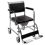 HSRG Pieghevole Anziani Trolley Portatile Multi-Funzione in Pelle Cuscino Vecchio Scooter con Multi-Funzione Toilette sedie a rotelle