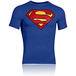 Under Armour Alter Ego Compression Short Sleeve Shirt SUPERMAN royal-red - XXL