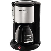 Moulinex Subito FG360811 - Cafetera de filtro (1000 W, 12 tazas, función Auto-off), color inox y negro