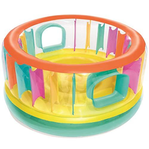 LXYu- Trampolin Cama elástica Hinchable para Saltar y Jugar. Colchoneta de Aire. Espacio de Juego para la Cama. Casa de Juegos. Anillo Transparente. Promoción precoz. Ahorro de Actividad.