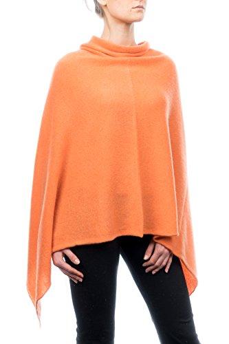 DALLE PIANE CASHMERE - Poncho aus 100% Kaschmir - für Frau, Farbe: Orange, Einheitsgröße -