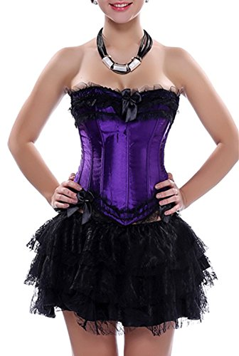 KuSen - Bustino -  donna Purple-Black