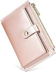 Wallet Card Holder & Money Organizer Purse Soft Leather Card Cases Zipper Credit Card Holder Mini Coin Bag