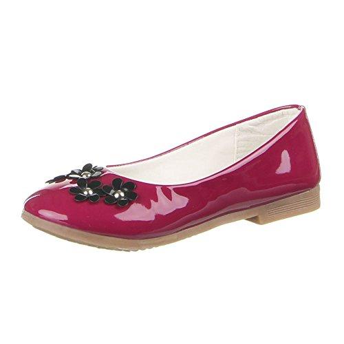 Kinder Schuhe, A10-1, BALLERINAS Weinrot