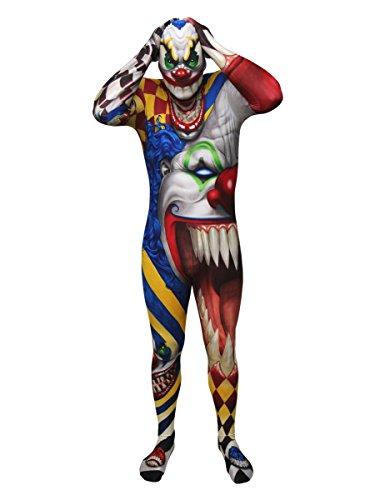it Halloween bunt XL (bis zu 1,90 m) (Halloween Clown Morphsuit)
