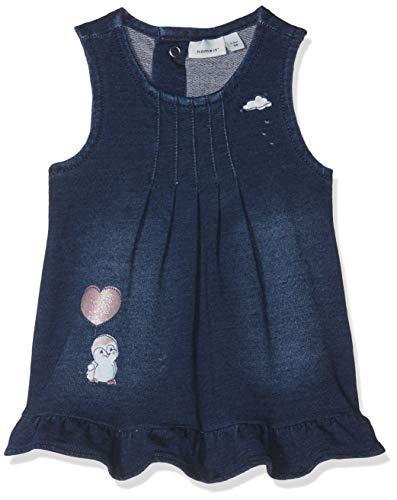 hen NBFABARBEL DNM 2126 SWE S/L Dress Kleid, per Pack Blau (Medium Blue Denim Medium Blue Denim), 74 (Herstellergröße: 74) ()