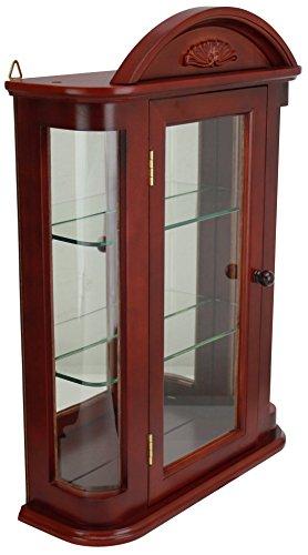 Design Toscano Glas Vitrinen - Rosedale - Wandmontage Curio Cabinet (Home Decor Curio Glas Cabinet)
