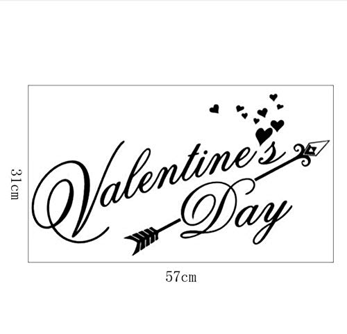 Valentines Day Autocollant Mural Bedroom Decor Vinyl Art Background Adesivo De Parede Vinilos Decorativos Muursticker Slaapkamer (Karten Kinder Valentines)