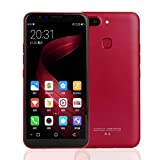SO-buts X20 Smartphone,5.8''Zoll Android 6.0,Dual-Karte-Handy,Maximaler Erweiterter Speicher 128GB,Dual HD-Camera WiFi Bluetooth Mobiltelefon, Regale (rot)