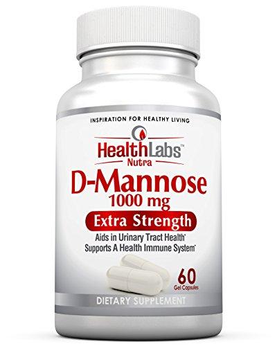 Health Labs Nutra D-Mannose 1000 mg – Fördern Sie eine gesunde Blase & Harnweg (30-Tage-Vorrat) (Cranberry Labs)