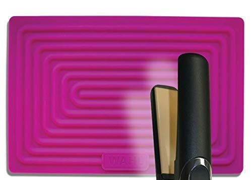 Wahl - Alfombrilla de silicona para alisador de pelo, color rosa