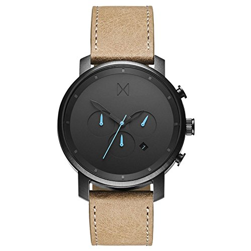 MVMT Herren Chronograph Quarz Uhr mit Leder Armband D-MC01-GML