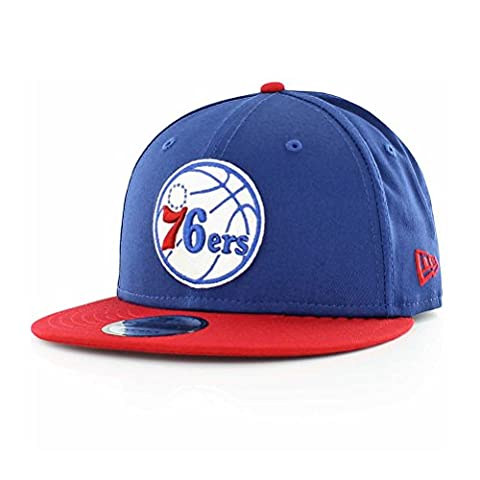 New Era Men's Nba Team 9FIFTY Philadelphia 76ers Cap, Blue, Small/Medium