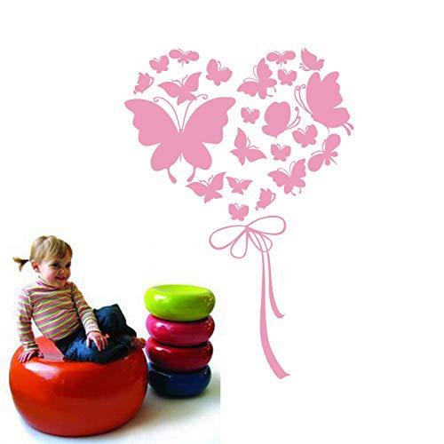 chmetterlinge Herz Ballon Vinyl Wandaufkleber Abziehbilder Kunst für Kinder Babys Wohnzimmer KindergartenWohnkulturHaus Dekoration57 * 85 cm ()